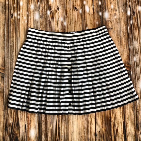 Candies Black and White Striped Skirt Size Large